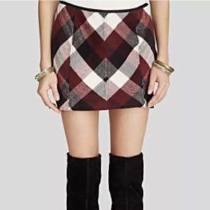 Free People Plaid Skirt size 2